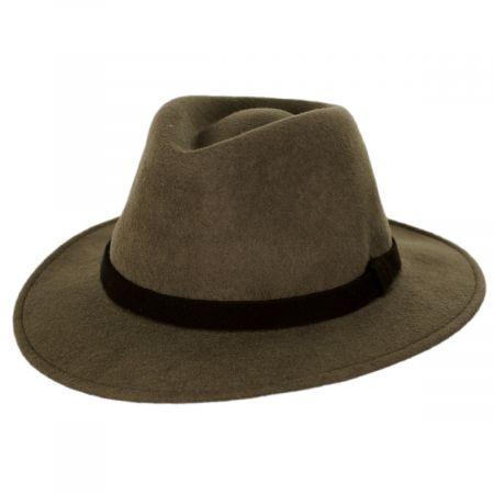 Slope Earflap Wool Felt Fedora Hat alternate view 6