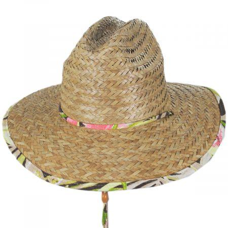 Dorfman Pacific Company Montane Buri Straw Lifeguard Hat