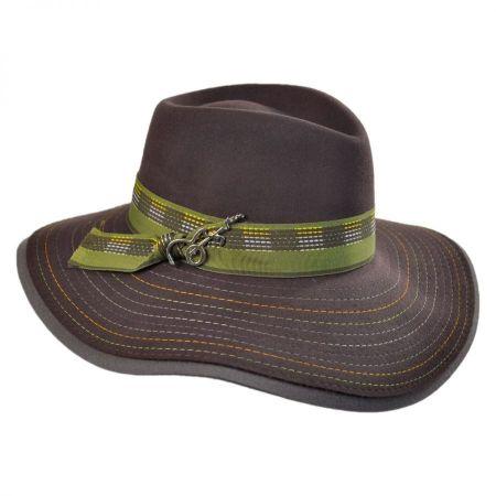 Carlos Santana Halley Wool Felt Fedora Hat