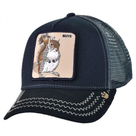 Goorin Bros Squirrel Nuts Mesh Trucker Snapback Baseball Cap