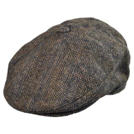 Hills Hats of New Zealand Tweed Wool Newsboy Cap