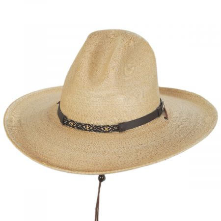Stetson Calhoun Palm Straw Gus Western Hat