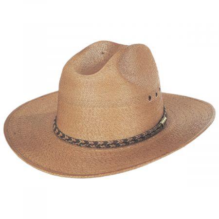 Amber Run Palm Straw Western Hat