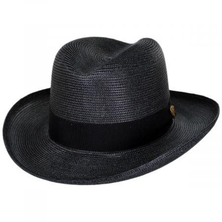 Dobbs El Dorado Florentine Milan Straw Homburg Hat