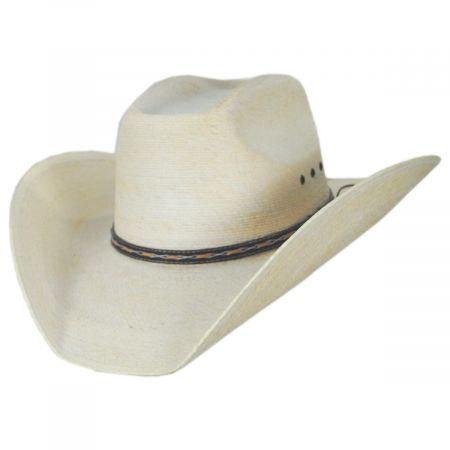 Square Palm Straw Western Hat