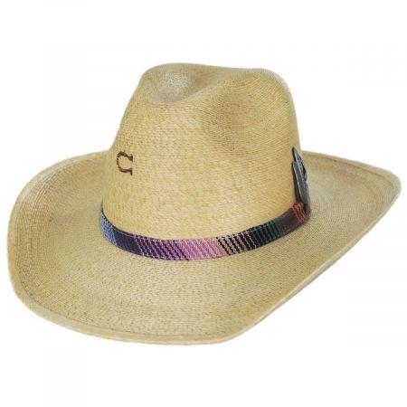 Poncho Palm Straw Western Hat