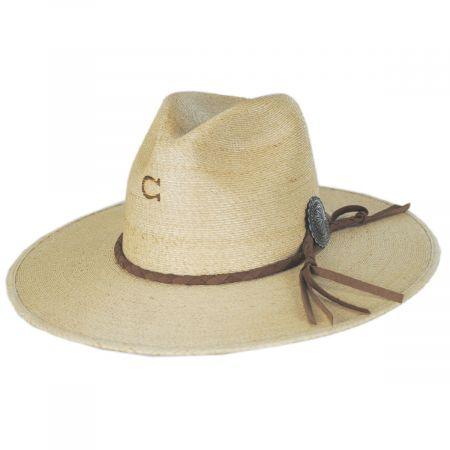 Lefty Palm Straw Fedora Hat