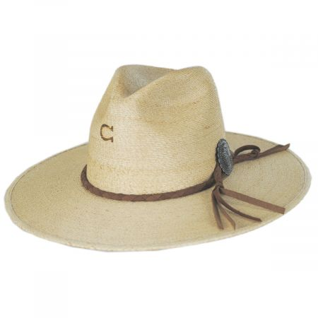 Charlie 1 Horse Lefty Palm Straw Fedora Hat