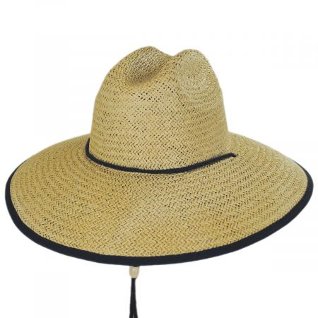Dorfman Pacific Company Harbour Toyo Straw Lifeguard Hat