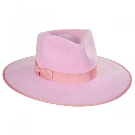 Rancher Pink Wool Felt Fedora Hat