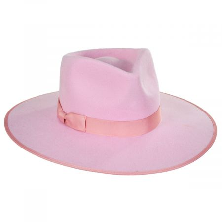 Lack of Color Rancher Pink Wool Felt Fedora Hat