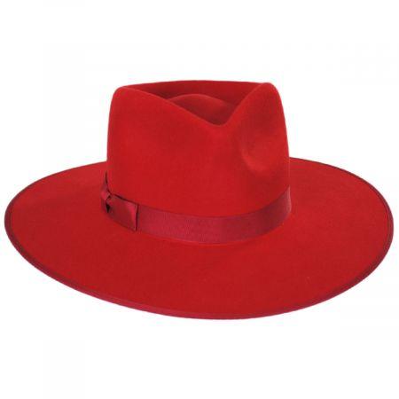 Rancher Red Wool Felt Fedora Hat
