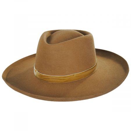 Val Brown Wool Felt Fedora Hat