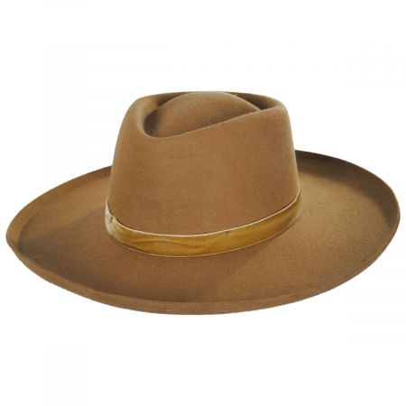 Val Brown Wool Felt Fedora Hat alternate view 6
