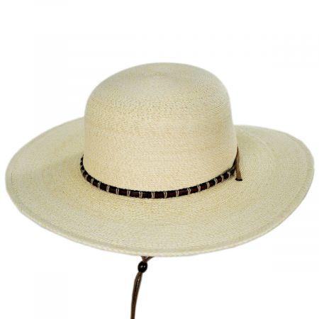Klondike Palm Straw Open Crown Western Hat