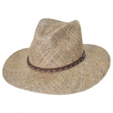 Dunraven Seagrass Straw Fedora Hat