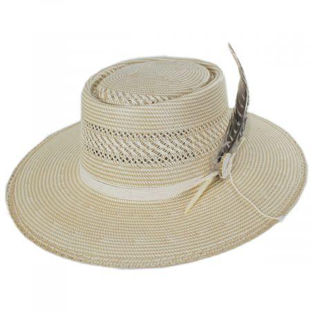 Stetson Batterson Shantung Straw Gambler Hat