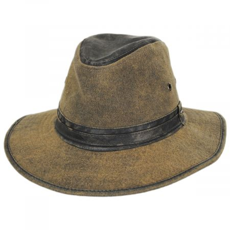 Longtrail Weathered Canvas Safari Fedora Hat