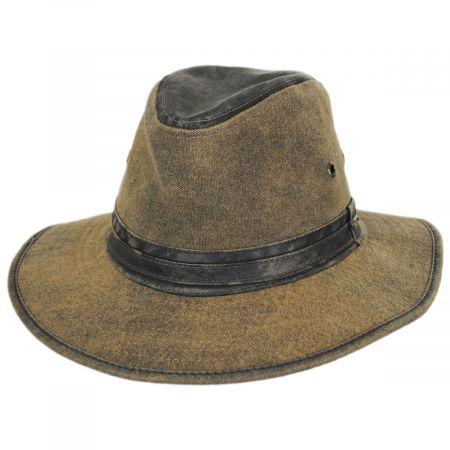 Stetson Longtrail Weathered Canvas Safari Fedora Hat