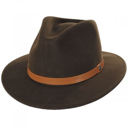 Messer Toffee Wool Felt Fedora Hat