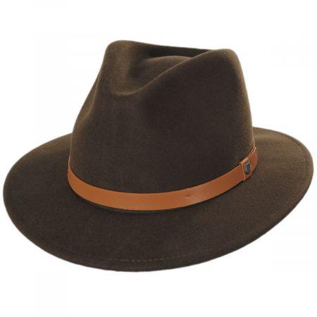 Brixton Hats Messer Toffee Wool Felt Fedora Hat