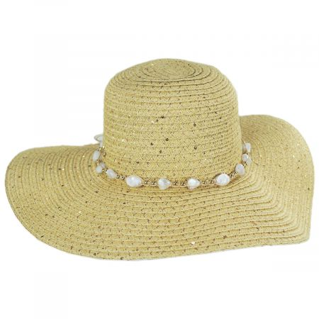 Artemis Sequin Toyo Straw Swinger Hat