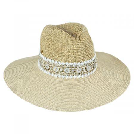 Astraea Wide Brim Toyo Straw Safari Fedora Hat