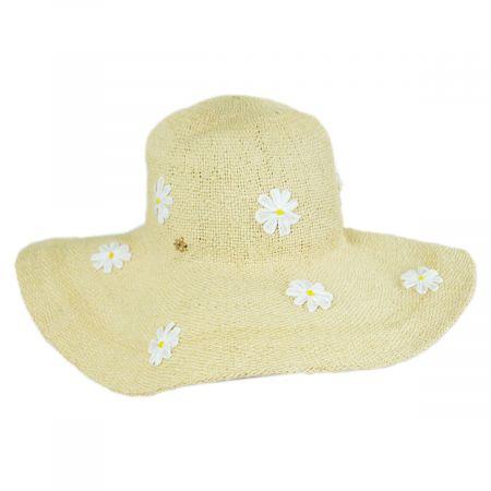 Aster Daisy Toyo Straw Swinger Hat