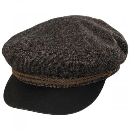 Tweed Wool Blend Fiddler's Cap