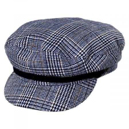 Brixton Hats Tweed Blue Fiddler's Cap