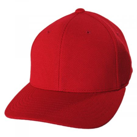 Cool and Dry Pique Mesh Fitted Baseball Cap