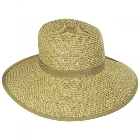 Cappelli Straworld Toast Tan Toyo Straw Braid Facesaver Hat