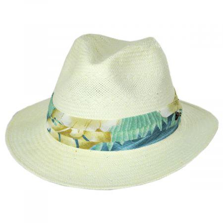 Mai Tai Toyo Straw Safari Fedora Hat