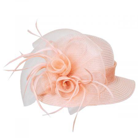 Toyo Straw Sinamay Trim Cloche Hat