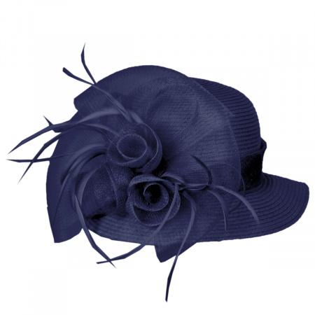 Toyo Straw Sinamay Trim Cloche Hat alternate view 5