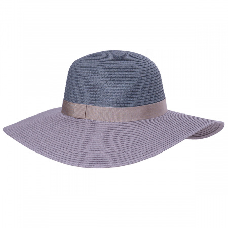 Two-Tone Toyo Straw Floppy Brim Sun Hat alternate view 6