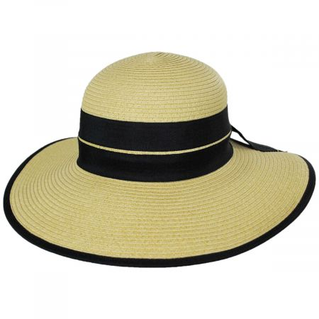 Toucan Collection Back Bow Toyo Straw Sun Hat