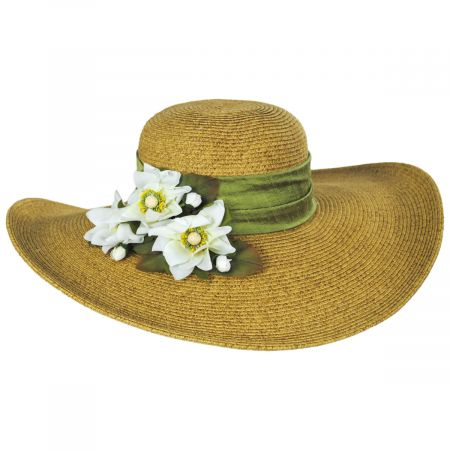 Toucan Collection Water Lily Toyo Straw Sun Hat