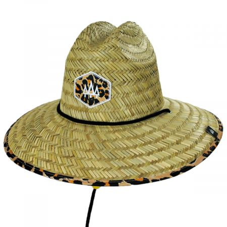 Big Cat Straw Lifeguard Hat