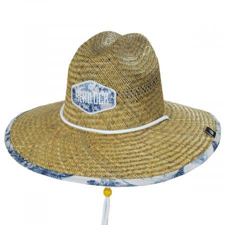 Hideaway Straw Lifeguard Hat
