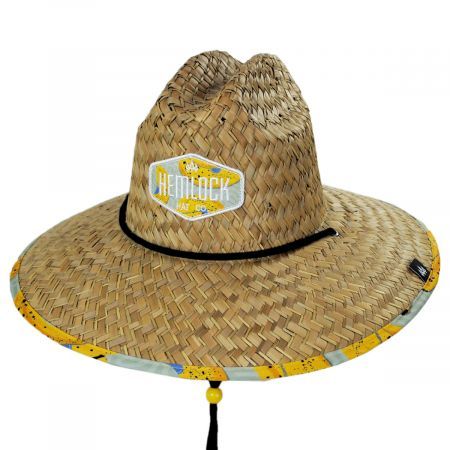 Peel Straw Lifeguard Hat