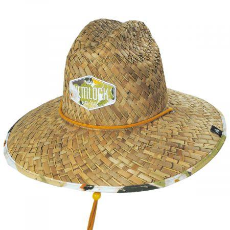 Hemlock Hat Co Sonora Straw Lifeguard Hat
