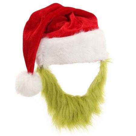 Dr. Seuss Grinch Plush Hat and Beard