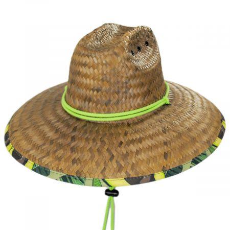 Peter Grimm Avocado Coconut Straw Lifeguard Hat