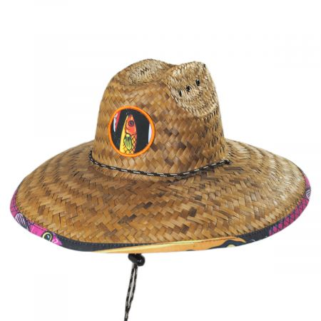 Peter Grimm Lures Coconut Straw Lifeguard Hat