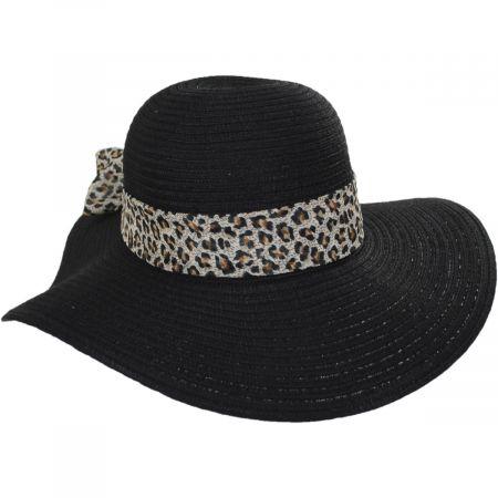 Cameroon Leopard Scarf Braided Swinger Sun Hat