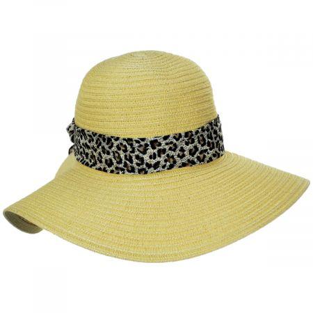 Dorfman Pacific Company Cameroon Leopard Scarf Braided Swinger Sun Hat