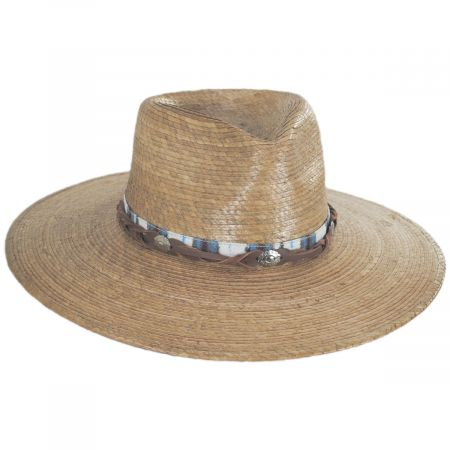 Scala Laeila Palm Straw Fedora Hat