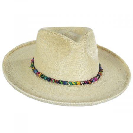 Justicia Palm Straw Fedora Hat