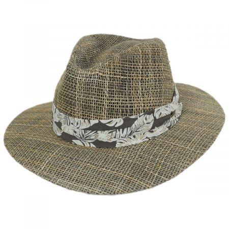 Quest Seagrass Straw Safari Fedora Hat